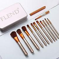 Flend 12 件高级化妆刷套装,专业化妆刷,合成卡布基底化妆刷