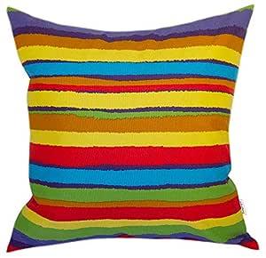 TangDepot 装饰性手工条纹棉抱枕套,枕套,欧式枕套