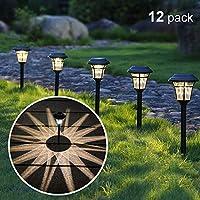 MAGGIFT 12 件装太阳能通路灯户外太阳能花园灯,适用于庭院、庭院、车道