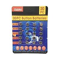 20 块 Powercell 按钮电池 AG 13 257 - LR44 手表游戏计算器收音机相机遥控儿童玩具警报