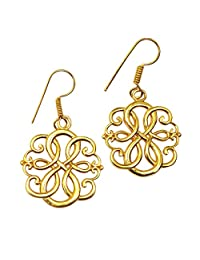 Sitara Collections 镀金黄铜凯尔特耳环 金色 SC103063