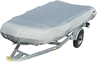 """Ding by Eevelle Dinghy Boat Cover - fits 10.5 Foot Long and 60"""" Wide Beam - Silver"""
