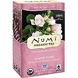 Numi Organic Tea White Rose, Full Leaf White Tea, 16-Count non-GMO Tea Bags
