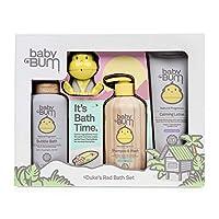 Baby Bum Duke's 洗澡礼品套装 – 淋浴凝胶洗发水和洗水 – 泡浴 – 日常乳液 – 公爵洗澡玩具