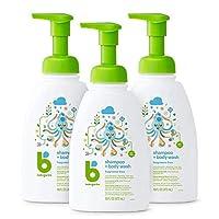 BabyGanics 洗发水 + 沐浴露,4盎司(3件装),包装可能不同 无香型 不含香料 16液盎司(3份装) 48