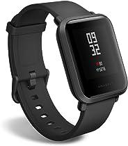 Huami Amazfit Bip 智能手表,全天心率,活动跟踪,*监测,GPS,超长电池寿命,蓝牙,美国版A1608 均码 玛瑙黑