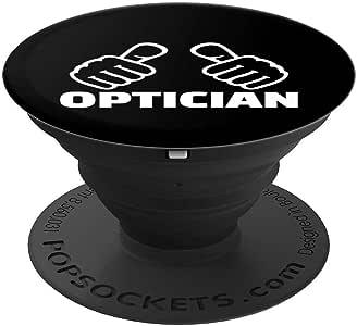 Optician PopSockets 手机和平板电脑握把支架260027  黑色