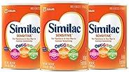 Similac 雅培 Sensitive 婴幼儿配方奶粉,含铁,一个月供应量,34.9 盎司(989g)(3 罐)