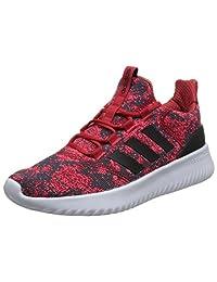 adidas NEO 阿迪达斯运动生活 男 休闲跑步鞋 CLOUDFOAM ULTIMATE DB0891 浅猩红/一号黑/红荧光 42.5 (UK 8.5)