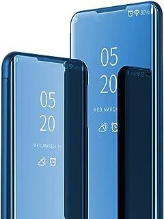 ikasus iPhone 11 Pro Max 手机壳,奢华闪耀超薄多功能镜面化妆盒,支架翻盖对开全身 360 覆盖保护壳 适用于 iPhone 11 Pro Max 镜壳,