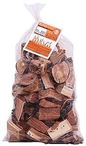 BBQ Wood Chunks - 5lb or 10lb Bag of Barbeque Wood Chunks 棕色 大