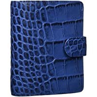 filofax 斐来仕 026006 Classic Croc pocket A7 靛蓝色 鳄鱼皮纹 活页记事本 笔记本 日记本 活页本 手帐 手册 钱夹 卡夹 万用手册(亚马逊自营,由供应商配送)