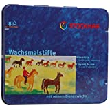 Stockmar - 31000 Beeswax 蜡笔 83 毫米防水 8 件金属盒装 1 - Pack FBA_31000