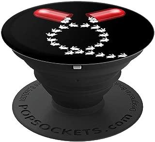 Qanon Red Pill Follow the White Rabbit Truth Pop Socket - PopSockets 手机和平板电脑抓握支架260027  黑色