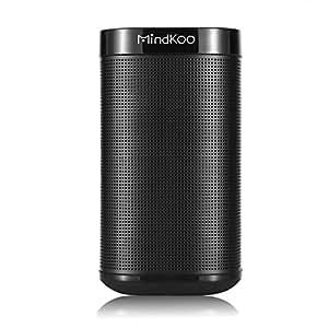 MINDKOO 超便携无线 4.0 黑色蓝牙音箱,带麦克风和辅助功能