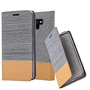 Cadorabo Book Case 适用于 Samsung Galaxy Note 9 钱包 Etui 保护套DE-121655 LIGHT GREY BROWN