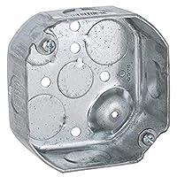 Hubbell-Raco 127 1-1/2 英寸深 1/2 英寸和 3/4 英寸侧旋钮 4 英寸八边形箱