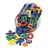 Chenille Kraft 4357 Wonderfoam 磁性字母表,彩色。105 片装 (CKC4357)