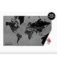 毛毡上的针脚世界地图,按国家世界,挂图日记,适合办公室或家用,迷你尺寸
