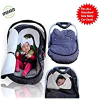 婴儿汽车座椅套 - 防风雨运动鞋;Peek 推车罩适用于寒冷冬季天气 - 非常舒适的汽车座椅套 通用款