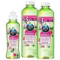 【批量购买】 JOY 植物餐具 餐具洗涤剂 温和玫瑰&野性莓 本体 190mL + 替换装 440mL×2个