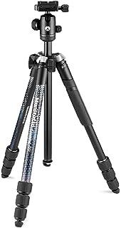 Manfrotto Element MII 移动蓝牙 MKELMII4BMB-BH,轻质铝合金旅行三脚架,带携带袋,Arca 兼容球头,承载 8 千克,适用于 DSLR,CSCs,紧凑相机和智能手机