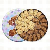 珍妮曲奇(JennyBakery)小熊饼干 手工制造 ((咖啡+牛油)双拼小花, 320g)