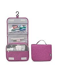 HGDGears 旅行化妆包带悬挂挂钩,便携式旅行化妆包,个人用品化妆包,大容量