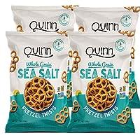 Quinn Snacks Classic Grain Sea Salt Pretzel Twist, 7 Oz Bag, 4Count