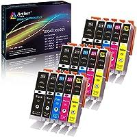 14件装 ARTHUR imaging 兼容墨盒替换件适用于250?X L 码251?X L 码4个大号黑色2小号黑色2青色2黄色2洋红色2灰色14-pack