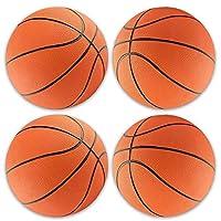 HOWBOUTDIS 迷你 17.78 cm 橡胶篮球(4 只装),迷你篮球套装适用于室内、室外或游泳池边,儿童派对喜爱