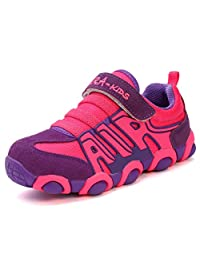 JINDENG 男孩女孩跑鞋儿童运动鞋等级学校带钩环休闲鞋易于穿脱