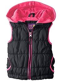 Pink Platinum Little Girls' Bgpuffer Vest with Hood