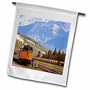 florene 交通工具–Train thru THE 加拿大 rockies–旗帜 12 x 18 inch Garden Flag