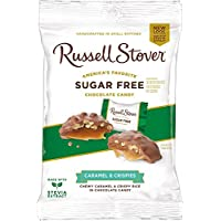 Russell Stover Sugar Free Peg Bag, Crispy Caramel, 3-Ounce (Pack of 12)
