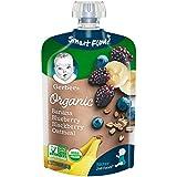 Gerber Purees 婴幼儿辅食 香蕉,蓝莓和黑莓燕麦片口味,3.5盎司(99g)12袋