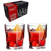 Riedel 醴铎 水晶玻璃不规则威士忌杯 啤酒杯OPTICAL O 0515/02 S2 295ml果汁杯烈酒杯 2只原装盒(亚马逊自营商品, 由供应商配送)
