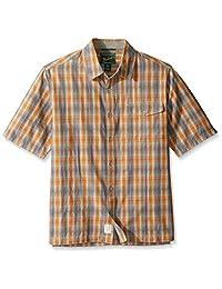 Woolrich 男式百褶长袍环保衬衫