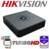 HIKVISION 4CH 4 CHANNEL DVR TURBO HD 2MP 1080P 自适应信号电视 AHD HDCVI CVBS(模拟)摄像机 * 视频录制 HIWATCH 系列 H.264 H.264+ WD 紫色 HDD SATA 1TB 2TB 4TB 6TB 1920 X 1080 PTZ 支持 HDMI VGA 视频输出 P2P 指导视觉应用程序 QR CODE APPLE ANDROID WINDOWS DVR-104G-F1 DVD播放机和 刻录机 黑色 2TB WD PURPLE HDD