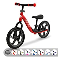 GOMO 平衡自行车 - 适合 18 个月、2、3、4 和 5 岁孩子的幼儿训练自行车 - 超酷彩色幼儿推车/无踏板踏板踏板自行车带脚踏板