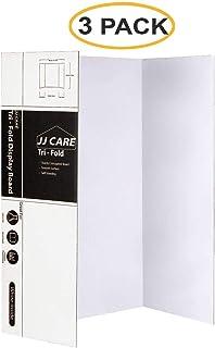 [重型] 91.44 厘米 x 121.92 厘米三折海报板;瓦楞纸板面板;艺术项目和科学展览板的展示板,JJ Care 出品 [3 件装)