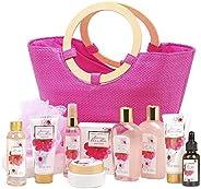 绿峡谷 Spa 女士礼品篮,粉红色大手提袋*版 12 件水疗礼品套装樱花收藏者生日礼物