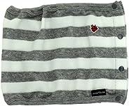 Anna Nicola 絨毛 嬰兒腹帶 橫條紋 灰色 AN11-75 E34 日本制造