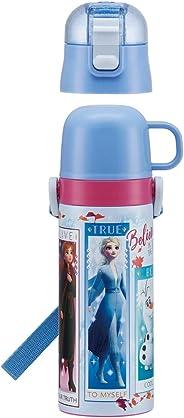 Skater 斯凯达 儿童用 2WAY 不锈钢 水壶 带杯子 冰雪奇缘 2 迪士尼 430ml SKDC4