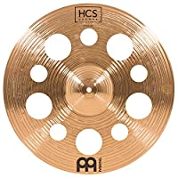 Meinl Cymbals 45.72 厘米垃圾桶带孔 – HCS 传统抛光青铜鼓套装,德国制造,2 年保修(HCSB18TRC)