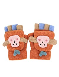 Tynora 可爱幼童男孩女孩冬季保暖针织棉弹性手套手套