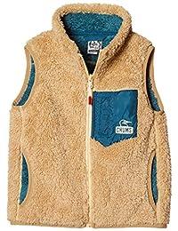 Chums 儿童背心 Bonding Fleece Vest・Beige・KM 儿童 Beige 日本 M (日本サイズM相当)