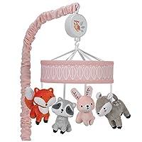 lambs & IVY 小林地森林动物音乐床铃粉色 / 白色