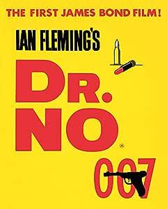 James Bond Dr. No Yellow 英国双皇冠帆布印花,多色,40 x 50 cm