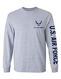 U.S. Air Force 长袖 T 恤。 Navy Blue or Sports 灰色